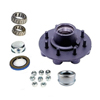 "Trailer Parts Pro Hub Kit 8 Bolt On 6 1/2"" #42 Spindle 9/16 Stud"