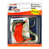 4' Zip Coiled Breakaway Cable With Split Ring and Carabiner Clip