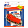 6' Zip Coiled Breakaway Cable With Split Ring and Carabiner Clip