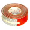 "5549KC Oralite Conspicuity Tape 11"" Red X 7"" White Kisscut"