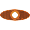 "A11AXB Amber Special Oval Reflector For 3/4"" Clearance/Marker"
