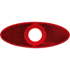 "A11RXB Red Special Oval Reflector For 3/4"" Clearance/Marker"