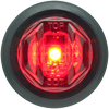 "MCL12RKB Trailer Marker Clearance Light 3/4"" Round Red Standard"
