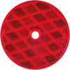 "RE13RB Trailer Red 3"" Round Reflector Screw Mount"