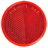 "RE38RB Trailer Red 2"" Round Reflector Adhesive Mount"