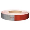 "V825549 Oralite Conspicuity Tape 11"" Red X 7"" White"