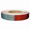 "V825549KC Oralite Conspicuity Tape 11"" Red X 7"" White Kisscut"