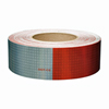 "V825649KC Oralite Conspicuity Tape 6"" Red X 6"" White Kisscut"