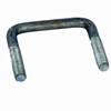 "3 1/16"" x 3.25"" Galvanized Square U-bolt UBGC12X306X325"